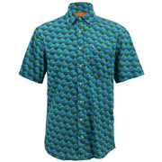 Regular Fit Short Sleeve Shirt - A Crowd of Umbrellas