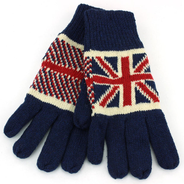 Macahel Union Jack Gloves - Navy
