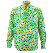 Regular Fit Long Sleeve Shirt - Green Shine