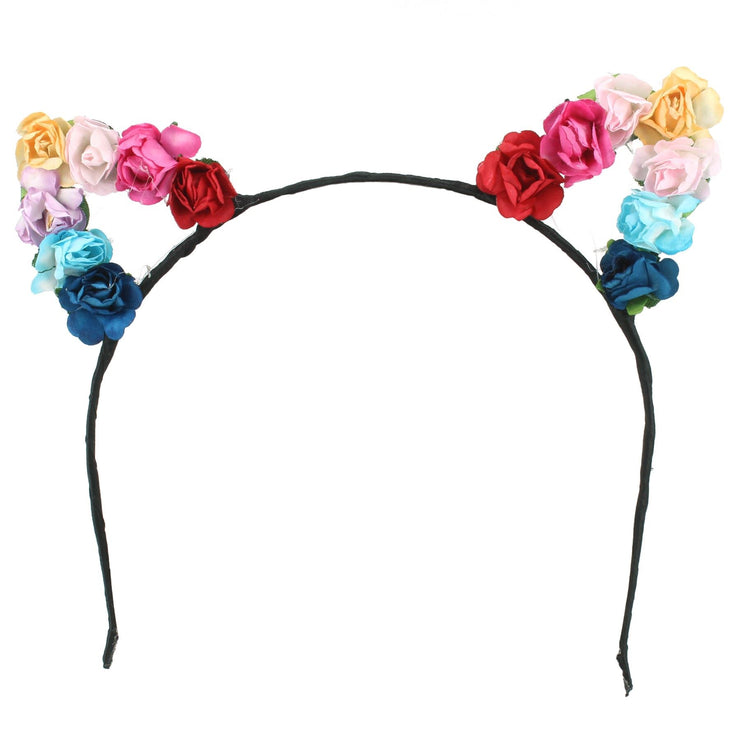 Cat Ear Garland Headband - Multi