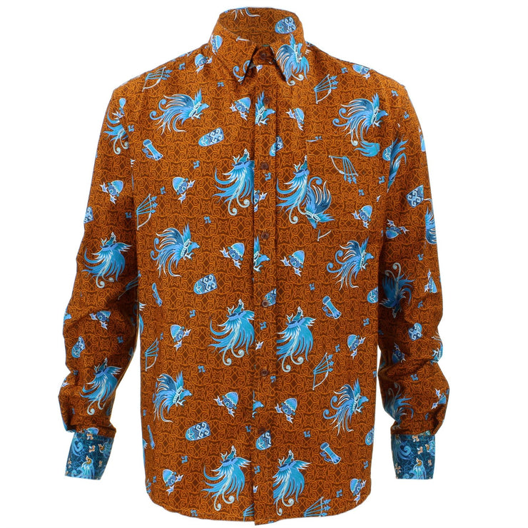 Tailored Fit Long Sleeve Shirt - Ice Blue Phoenix