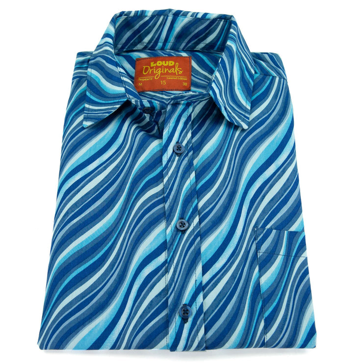 Regular Fit Short Sleeve Shirt - Ripples