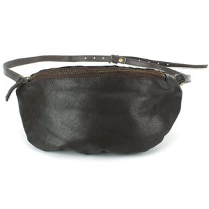 Real Leather Bum Bag Money Belt - Brown