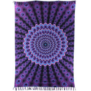 Viscose Rayon Sarong - Peacock - Purple