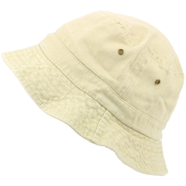 Pre-washed Bucket Hat - Sand