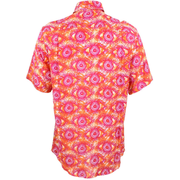 Regular Fit Short Sleeve Shirt - Orange & Pink Eyes