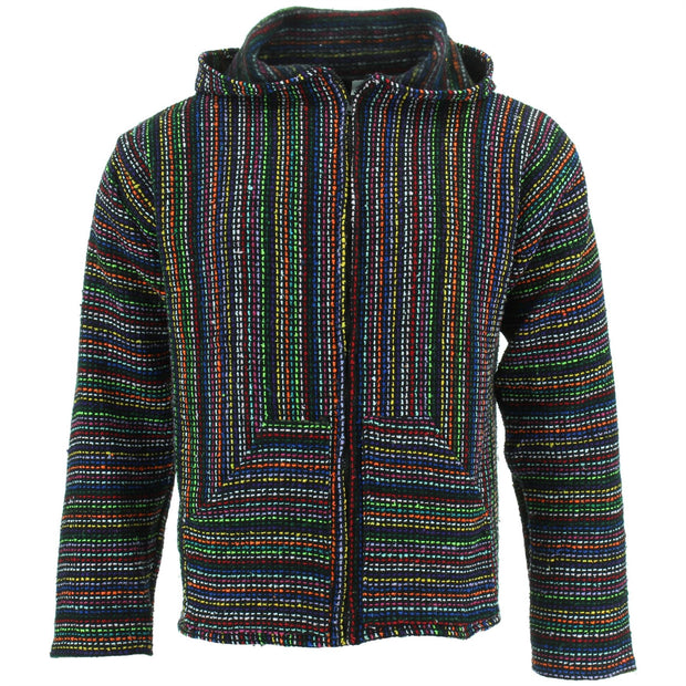 Mexican Baja Jerga Zip Hoody Jacket - Multifleck