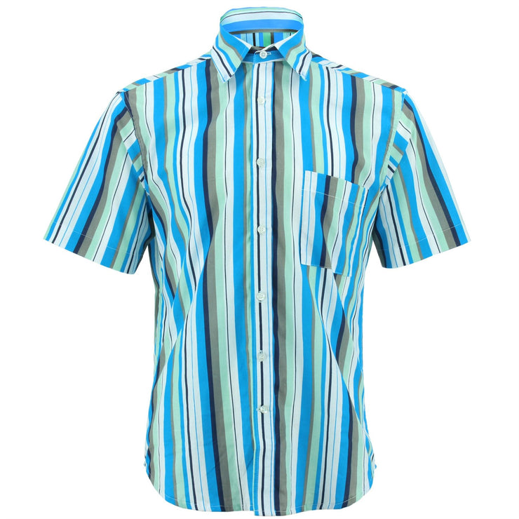 Regular Fit Short Sleeve Shirt - Bayadere Stripes