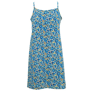 Strappy Dress - Delicate Blue Flower