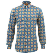 Tailored Fit Long Sleeve Shirt - Sun Tile