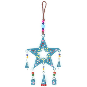 Hanging Star Mobile Decoration - Teal