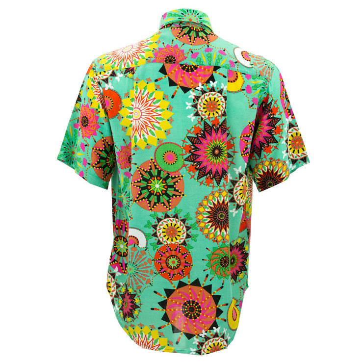 Regular Fit Short Sleeve Shirt - Carnival Suzani - Green