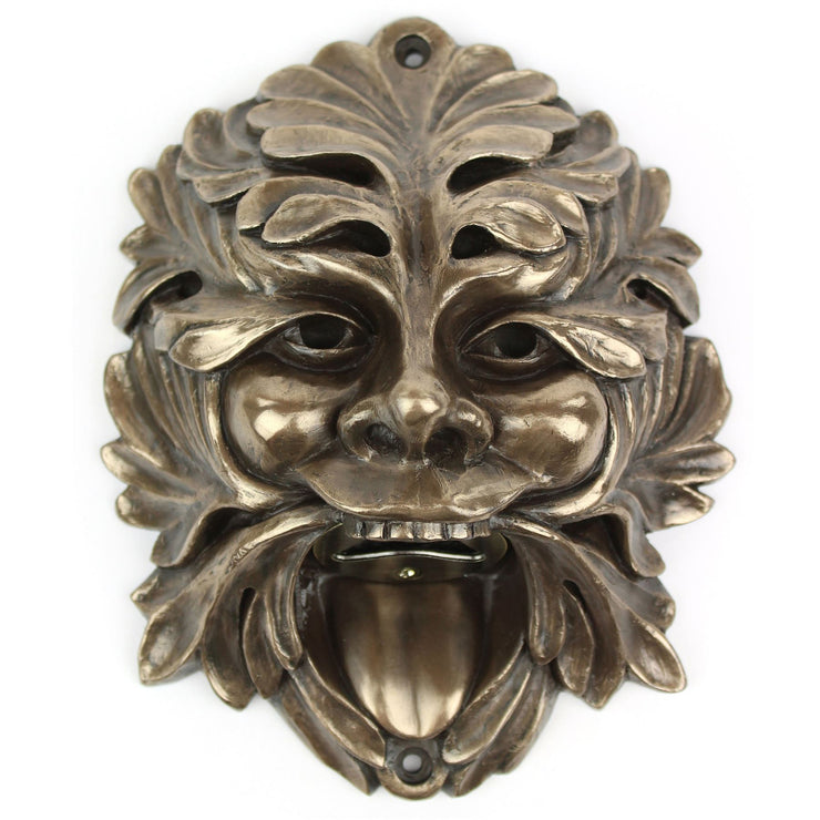 Wall Mounted Character Bottle Opener - Green Man NEW DESIGN (Bronze)