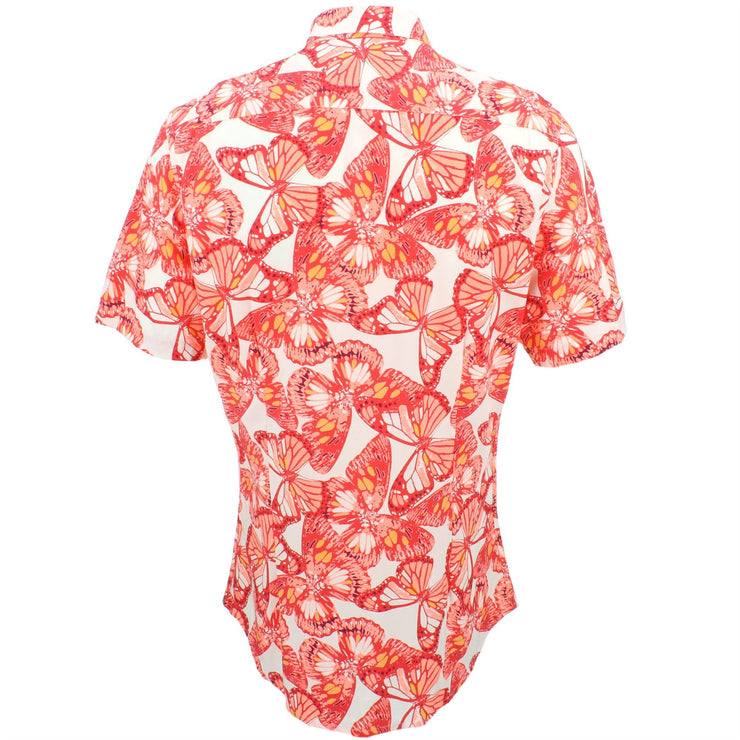 Slim Fit Short Sleeve Shirt - Butterflies