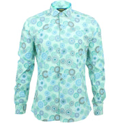 Slim Fit Long Sleeve Shirt - Spirograph
