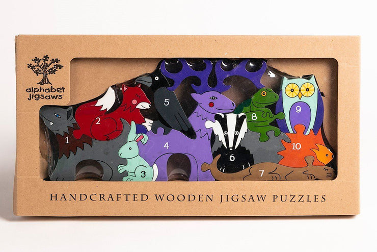 Handmade Wooden Jigsaw Puzzle - Number Woodland