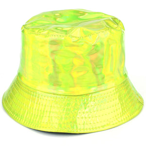 Shiny Metallic Bucket Hat - Green