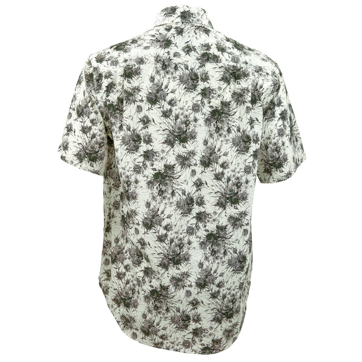Regular Fit Short Sleeve Shirt - Charcoal Roses