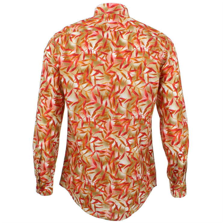 Tailored Fit Long Sleeve Shirt - Bamboo Leaves