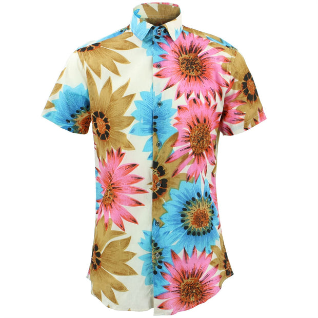 Slim Fit Short Sleeve Shirt - Big Summer Floral
