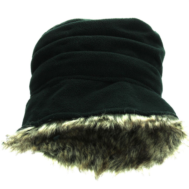 Hawkins Ladies Layered Fur Hat - Black
