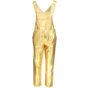 Shiny Dungarees - Gold