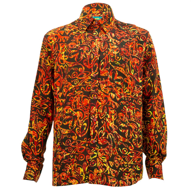 Regular Fit Long Sleeve Shirt - Sunset Swirl
