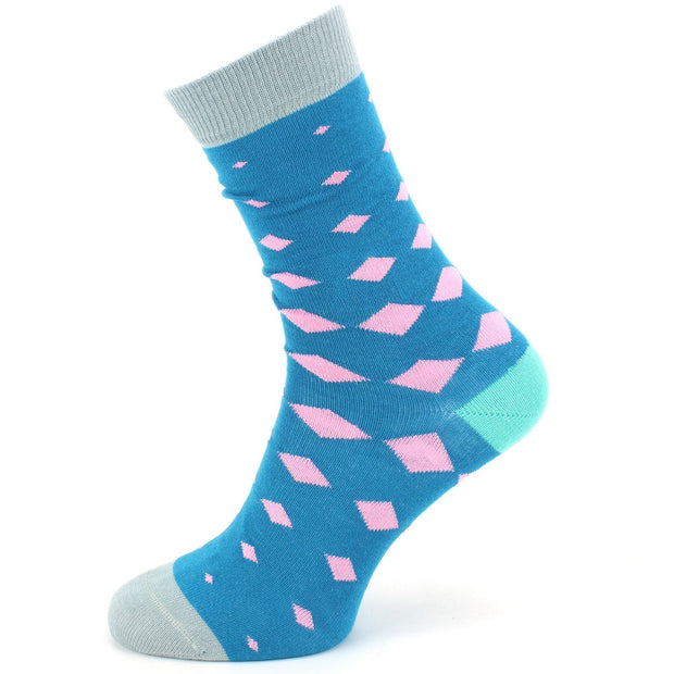 Bamboo Socks - Diamonds - Blue