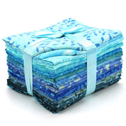 Cotton Batik Pre Cut Fabric Bundles - Fat Quarter - Blue Slate