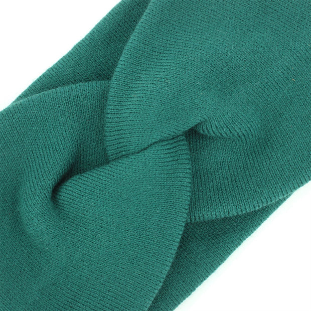 Twisted Bowknot Headband - Green