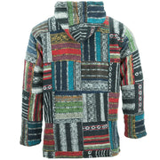 Brushed Cotton Baja Hoodie - Patchwork