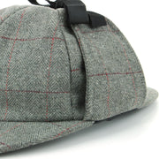 Wool Herringbone Deerstalker Sherlock Holmes Hat - Light Grey