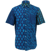 Regular Fit Short Sleeve Shirt - Random Mixed Panel