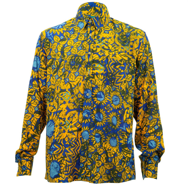 Regular Fit Long Sleeve Shirt - Sunflower Floral