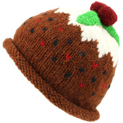 Wool Knit Christmas Pudding Hat