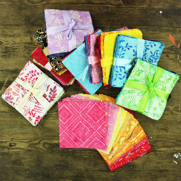 Cotton Batik Pre Cut Fabric Bundles - Charm Pack - Desert Haze