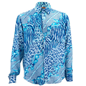 Regular Fit Long Sleeve Shirt - Jungle Menagerie - Blue