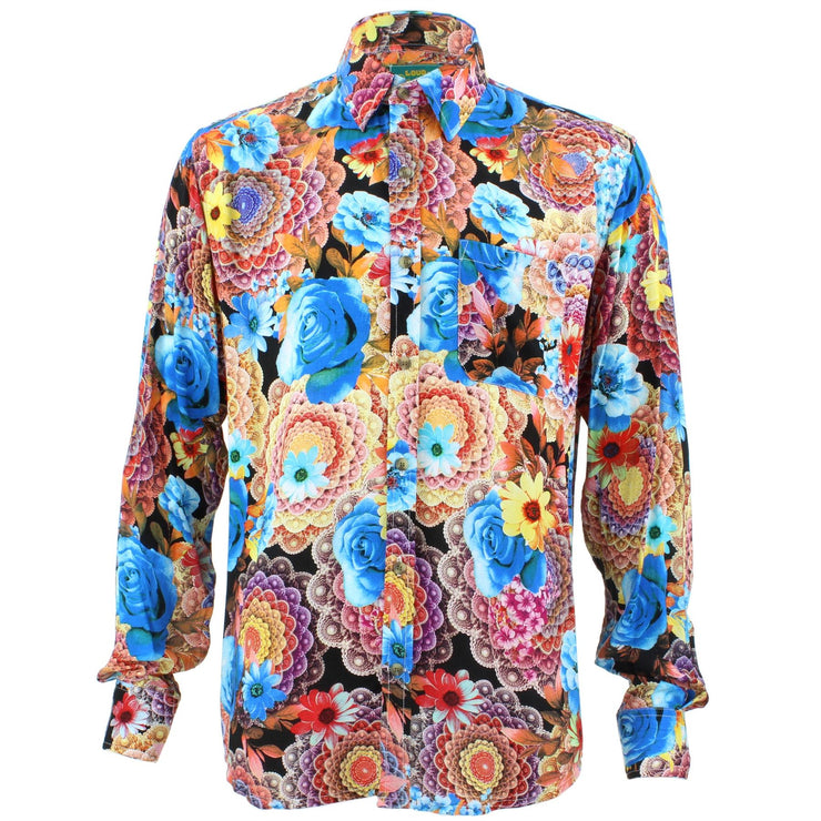 Tailored Fit Long Sleeve Shirt - Psychedelic Floral