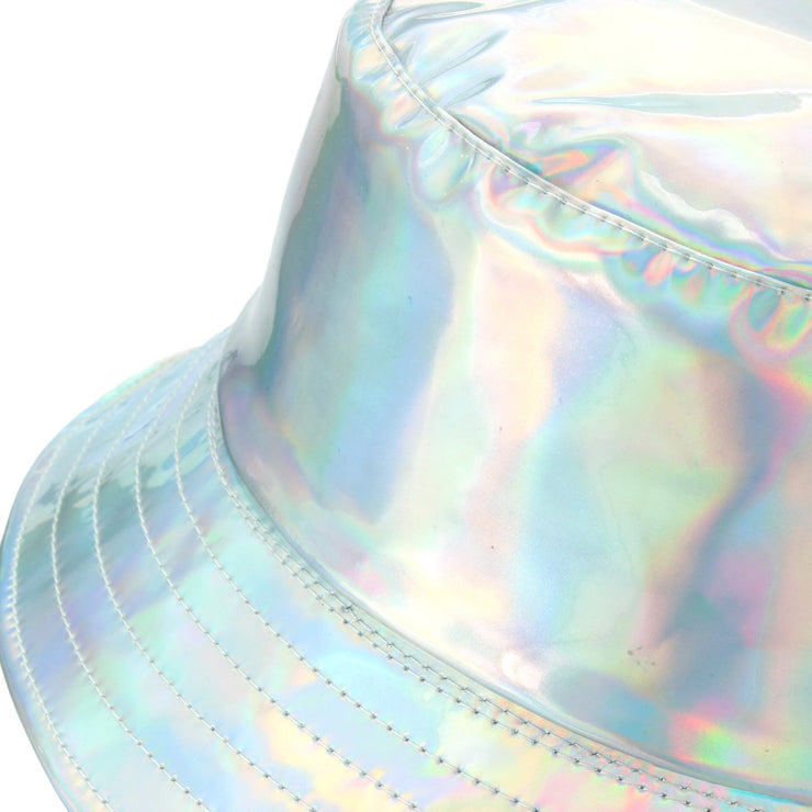 Shiny Bucket Hat - Silver
