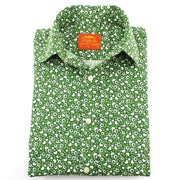 Tailored Fit Short Sleeve Shirt - Green Hearts & Dots