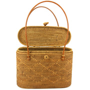 Loud Elephant Handwoven Flat Top Rattan Bag - Cross Loop
