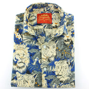 Tailored Fit Short Sleeve Shirt - Lion Tiger Jungle