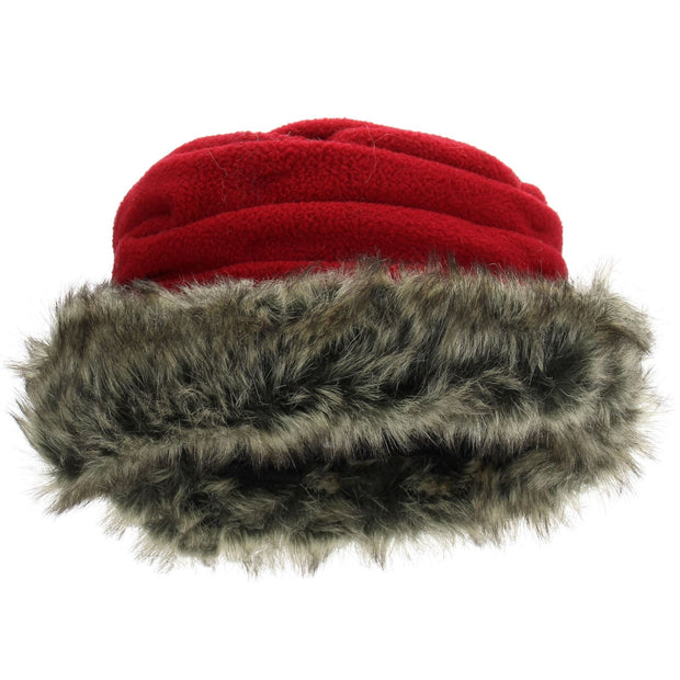 Hawkins Ladies Layered Fur Hat - Red