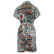 Mandarin Mini Dress - Sunflower Glow Red