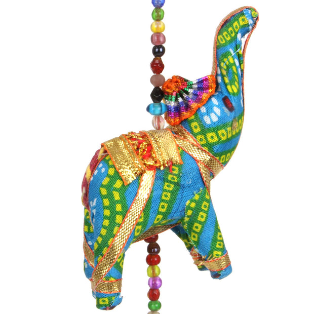 Handmade Rajasthani Strings Hanging Decorations - Cloth Elephants