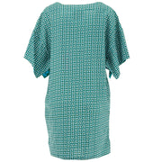 Modern Kimono Pocket Dress - Green Eclipse