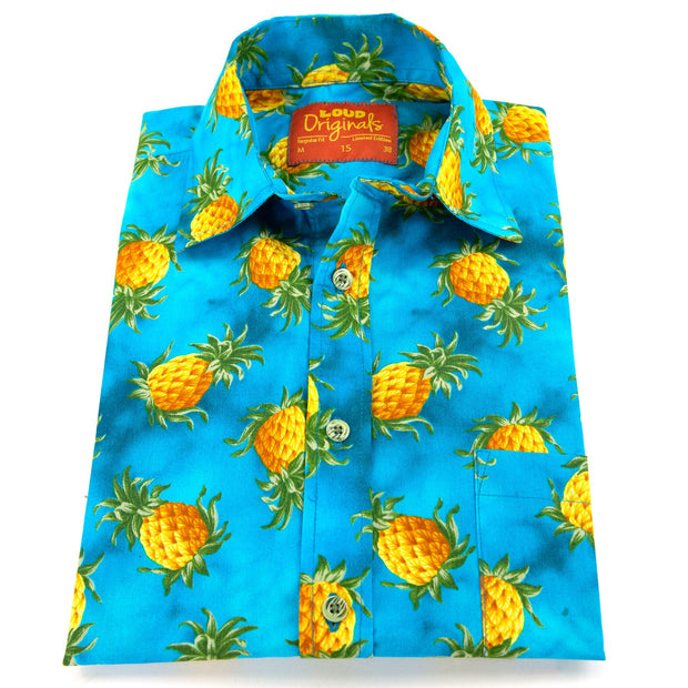 Regular Fit Short Sleeve Shirt - Pineapples