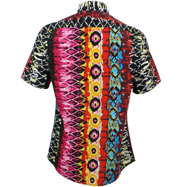 Slim Fit Short Sleeve Shirt - Psychedelic Snakeskin