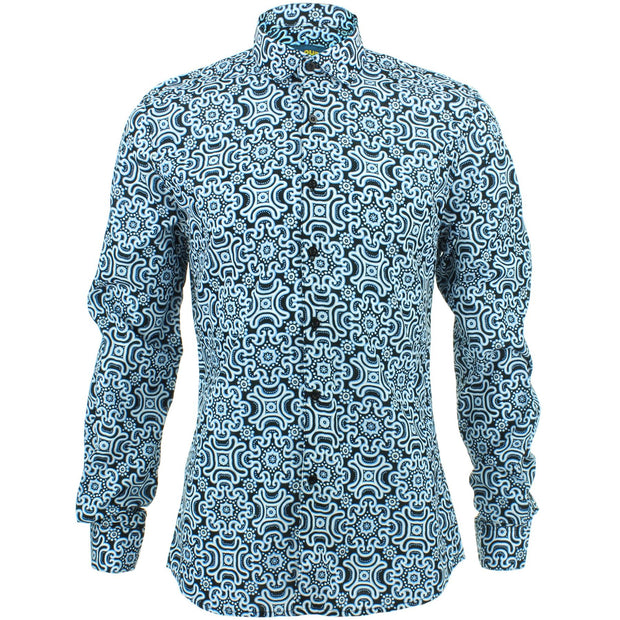Slim Fit Long Sleeve Shirt - Tribal Fret