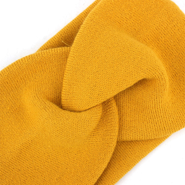 Twisted Bowknot Headband - Mustard